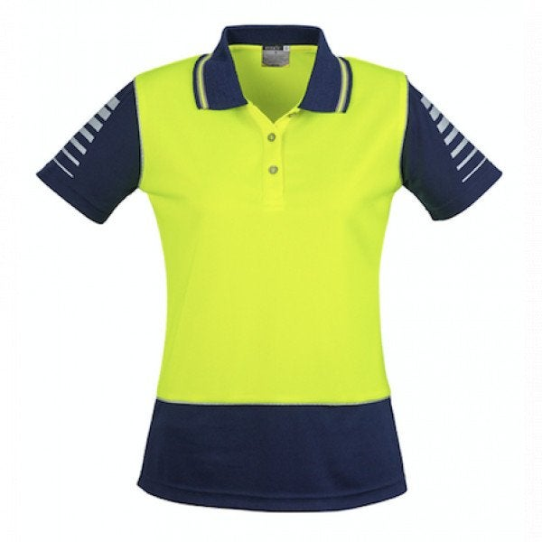 Custom Womens Hi Vis Zone Polo
