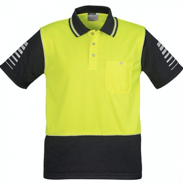Custom Mens Hi Vis Zone Polo