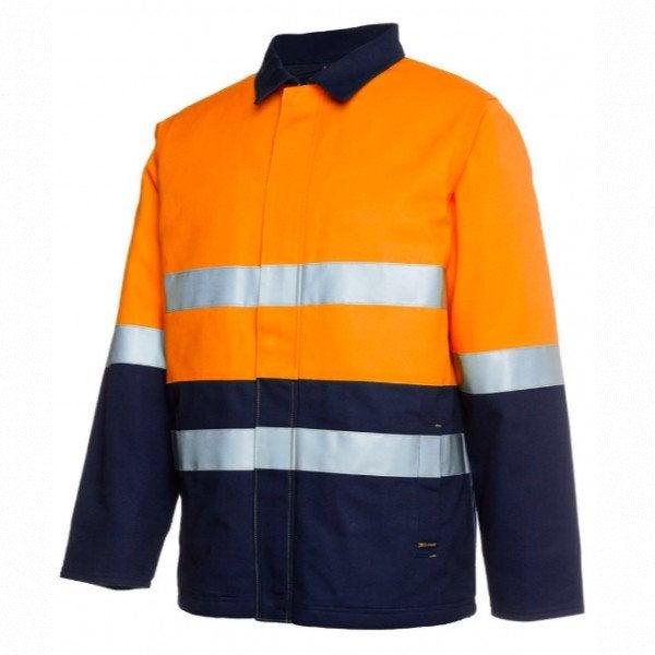 Custom Mens Hi Vis (D+N) Cotton Drill Jacket