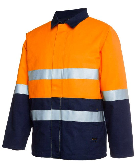 Mens Hi Vis (D+N) Cotton Drill Jacket