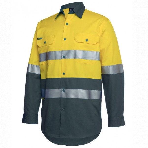 Custom JB's Hi Vis L/S (D+N) 150g Work Shirt