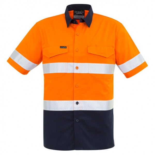 Custom Mens Rugged Cooling Taped Hi Vis S/S Spliced Shirt