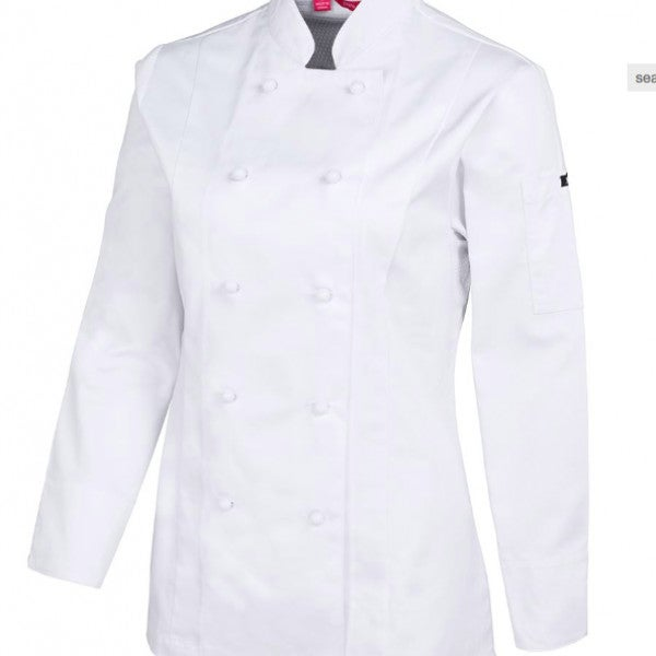 Ladies L/S Vented Chef's Jacket