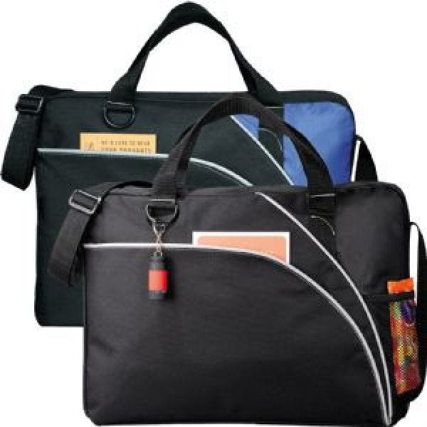 Custom Double Curve Conference Bag - Black