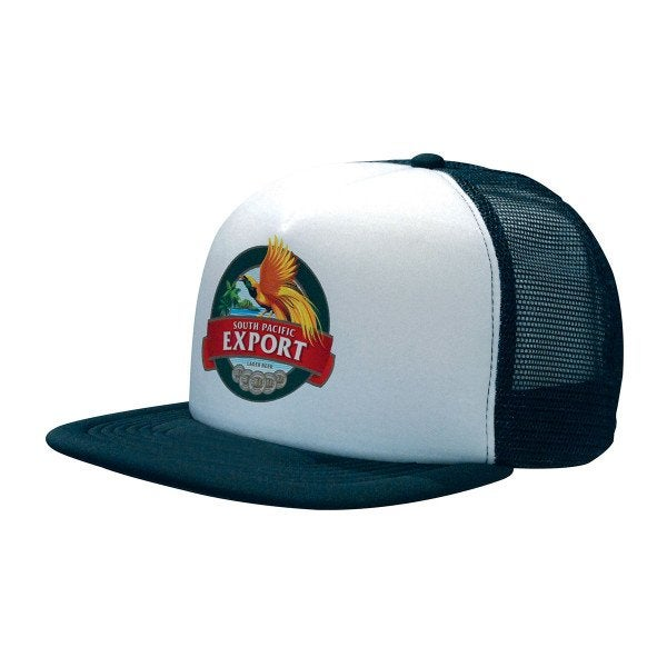 Custom Trucker Mesh Cap With Flat Peak
