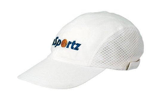 Brushed Cotton Cap With Mesh Side Panels