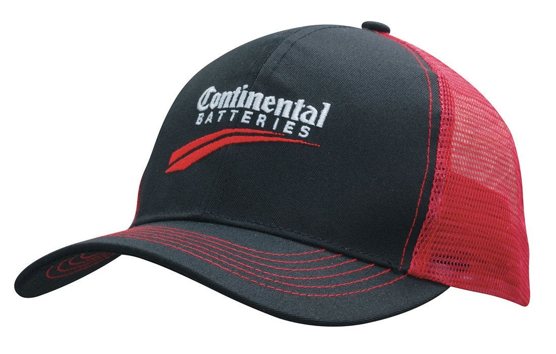 Breathable Poly Twill Cap With Mesh Back