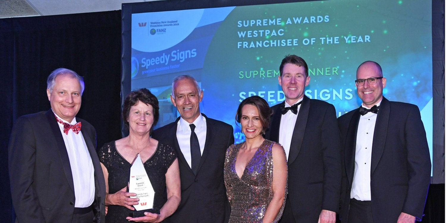 Speedy Signs named New Zealand Supreme Franchisee of the Year