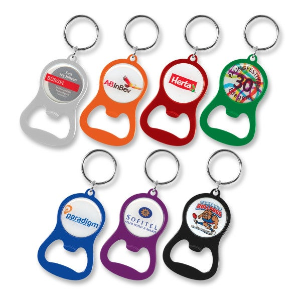 Custom Chevron Bottle Opener Key Ring