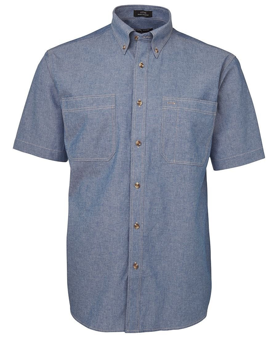 COTTON CHAMBRAY S/S SHIRT