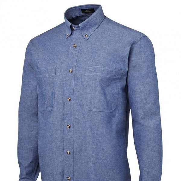 MENS L/S COTTON CHAMBRAY SHIRT