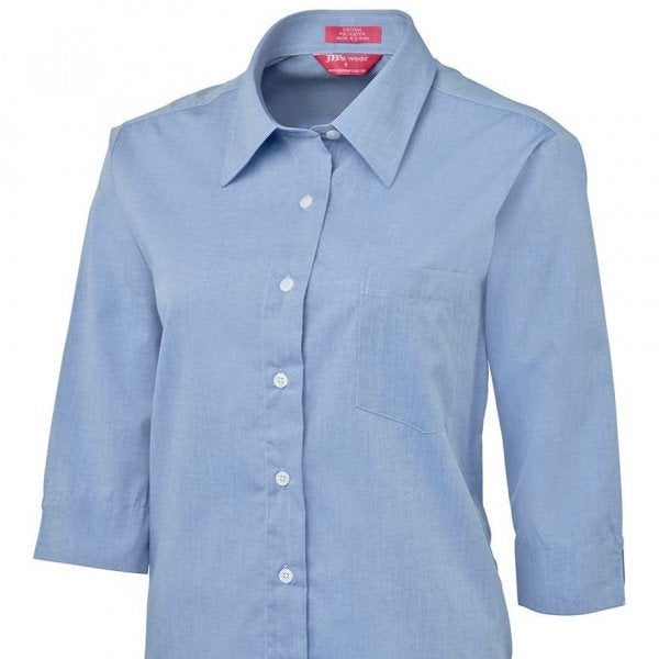 Custom LADIES ORIGINAL 3/4 FINE CHAMBRAY SHIRT