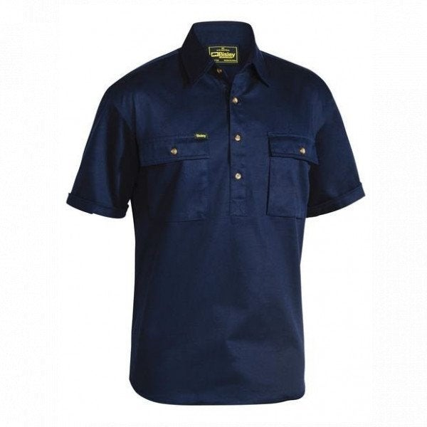Custom CLOSED FRONT COTTON DRILL SHIRT - SHORT SLEEVE