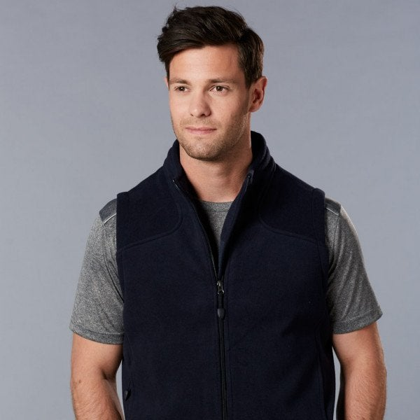 Custom Men's Diamond Polar Fleece Vest