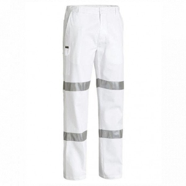 Custom 3M TAPED COTTON DRILL WHITE WORK PANT