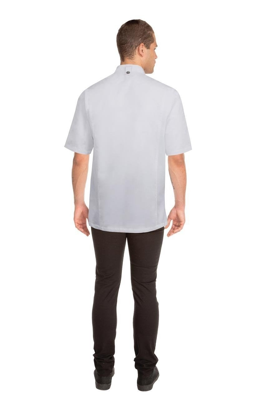 Press Stud White Chef Jacket