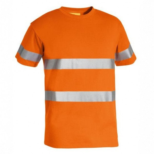 Custom 3M Taped Hi Vis Cotton T-Shirt
