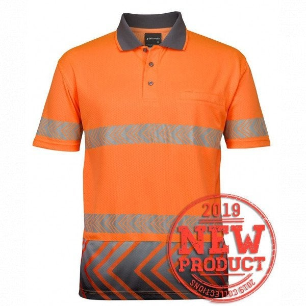 Custom JB's Hi Vis S/S Arrow Polo