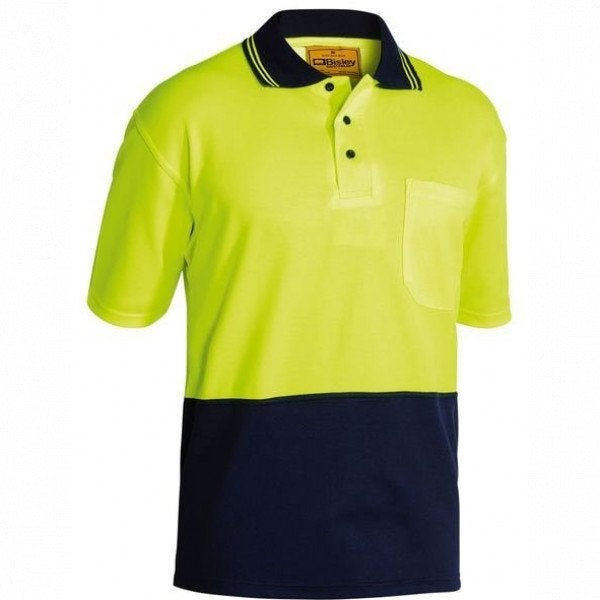 Bisley 2Tone Cotton Backed HV Polo