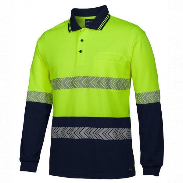 Hi Vis L/S Segemented tape Polo