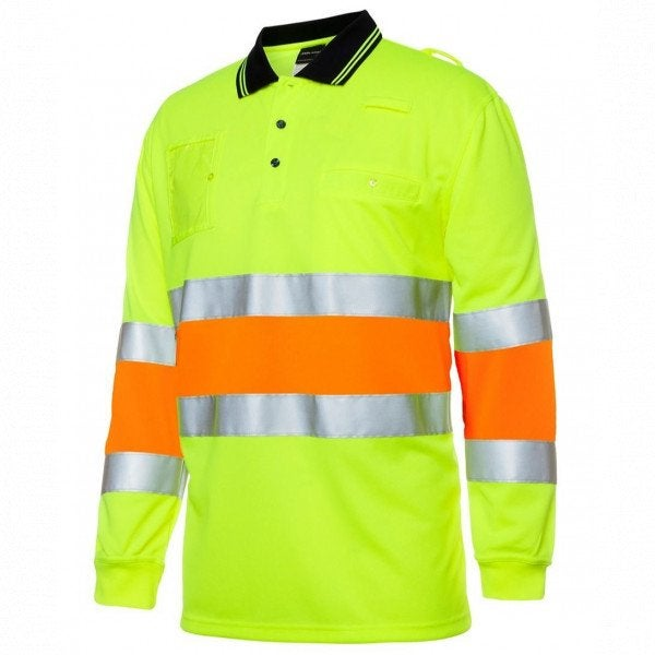 Custom JB's Hi Vis L/S Motion Polo
