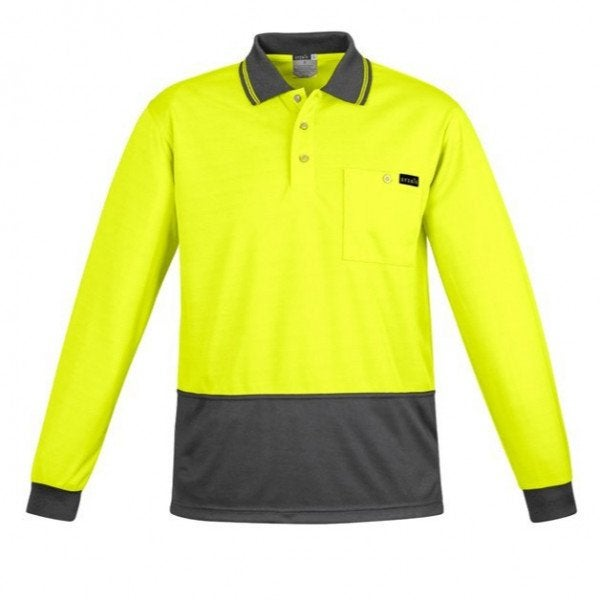 Custom Syzmik Men's Comfort Back Hi Vis Polo