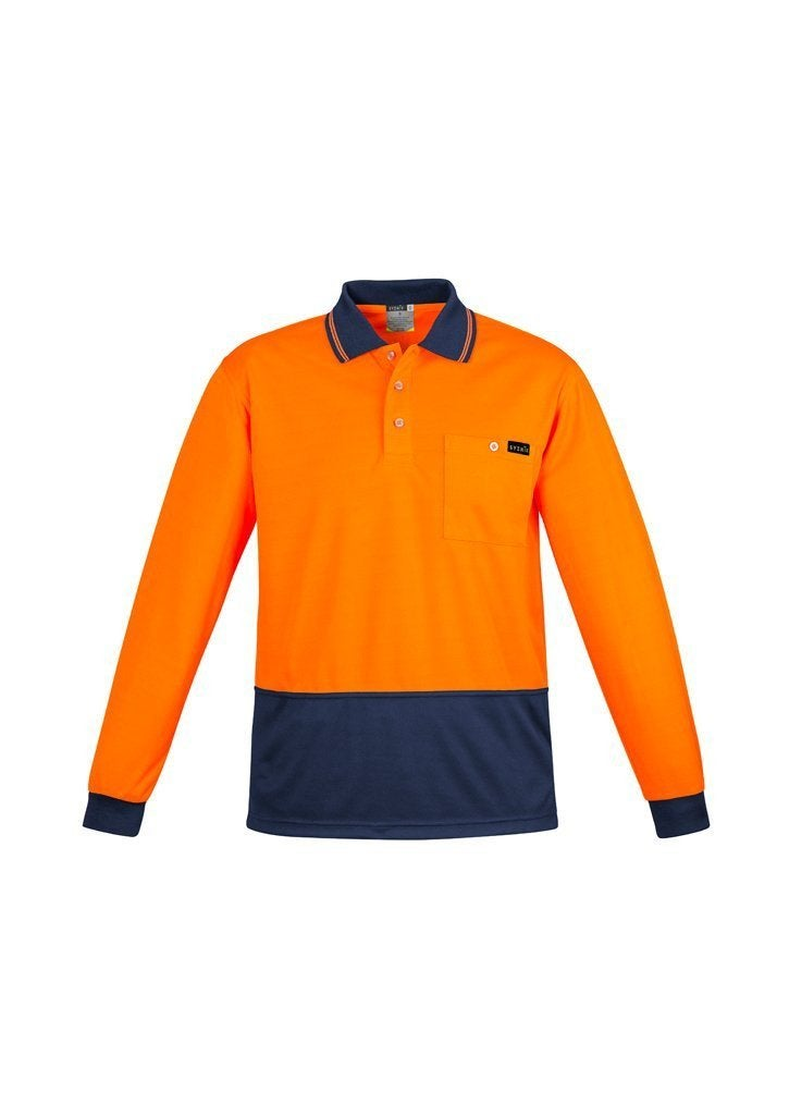 Men's L/S Hi Vis Polo