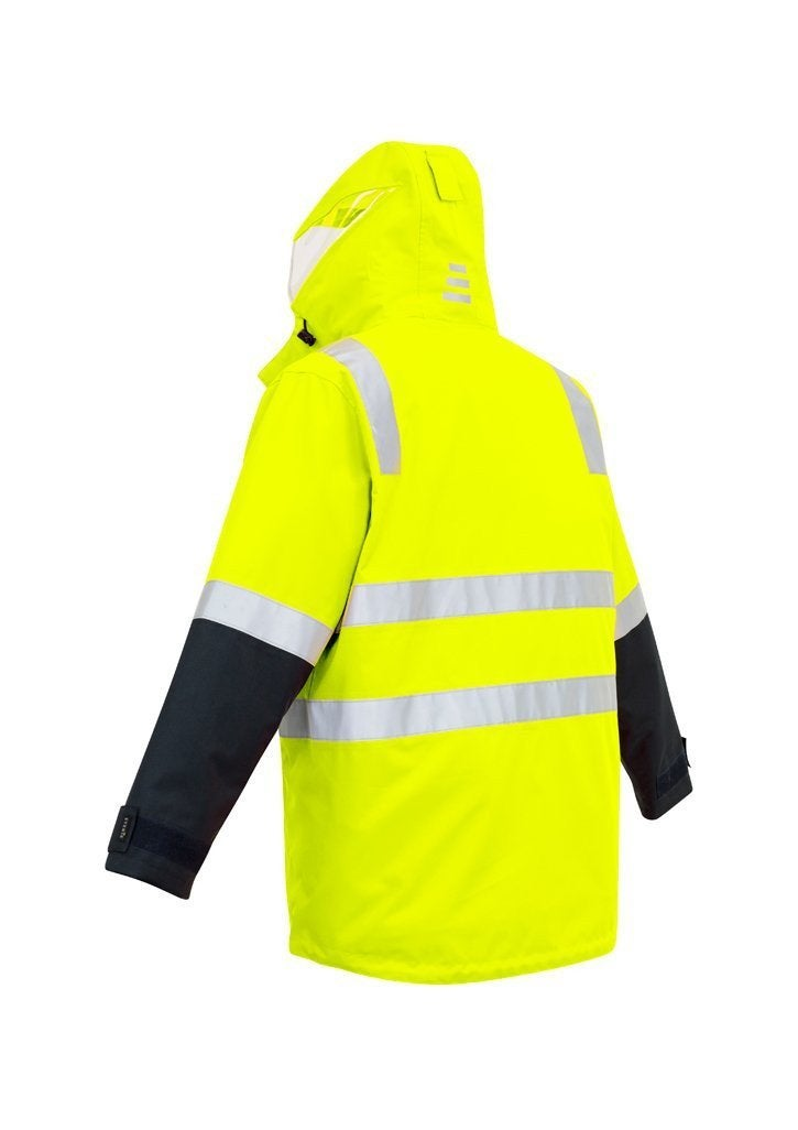 Mens Hi Vis 4 in 1 Waterproof Jacket