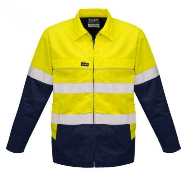 Custom Syzmick Hi Vis Cotton Drill Jacket