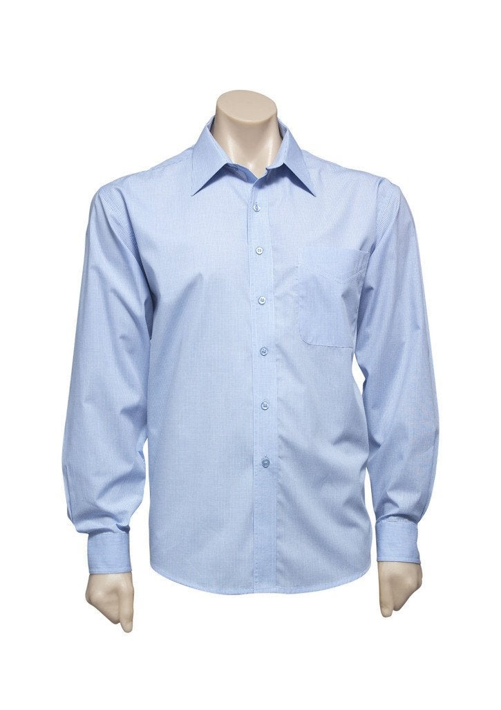 Mens Micro Check Long Sleeve Shirt