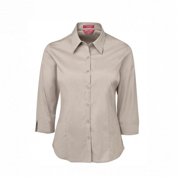 Custom Ladies Urban 3/4 Poplin Shirt