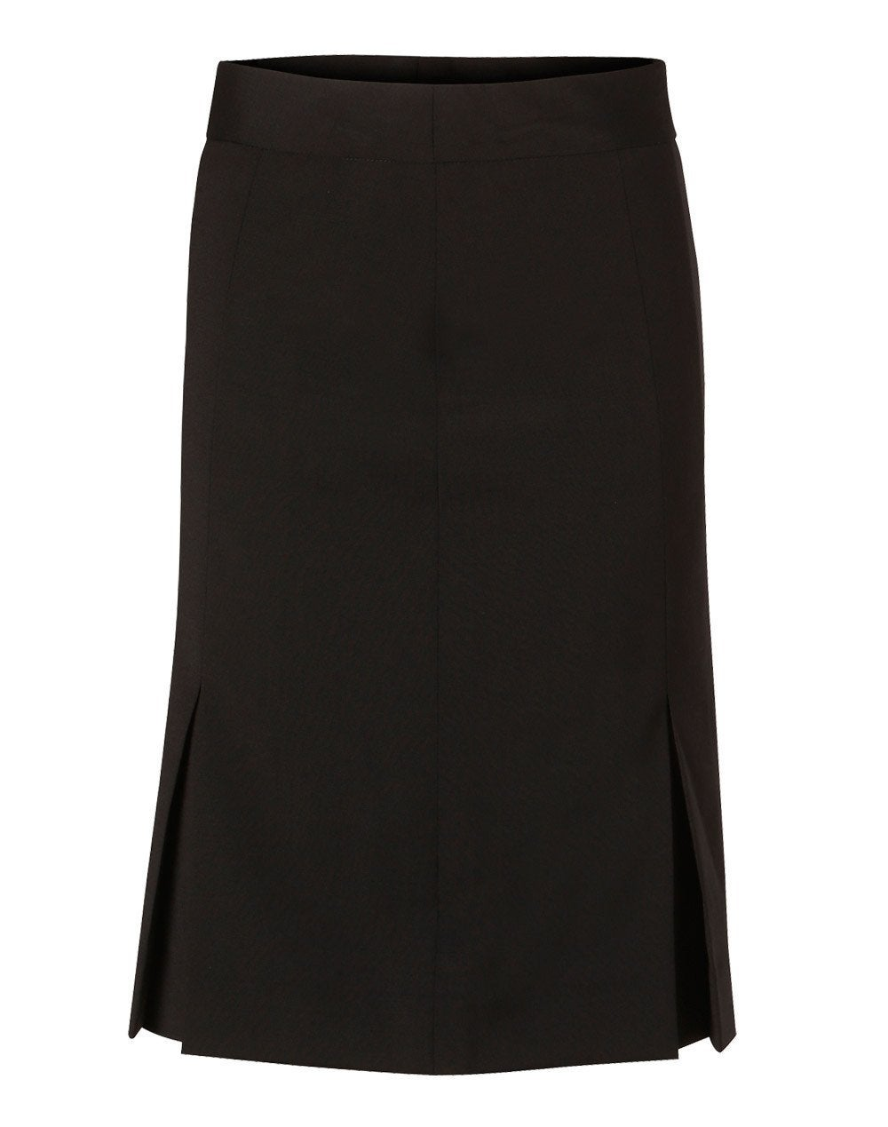 Women's Wool Blend Stretch Pleated Skirt