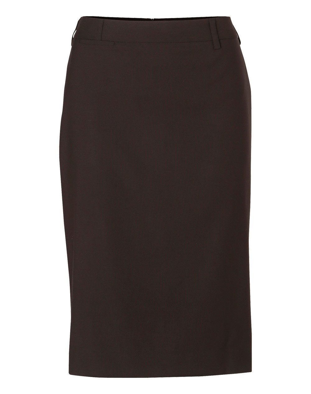 Stretch Mid Length Lined Pencil Skirt