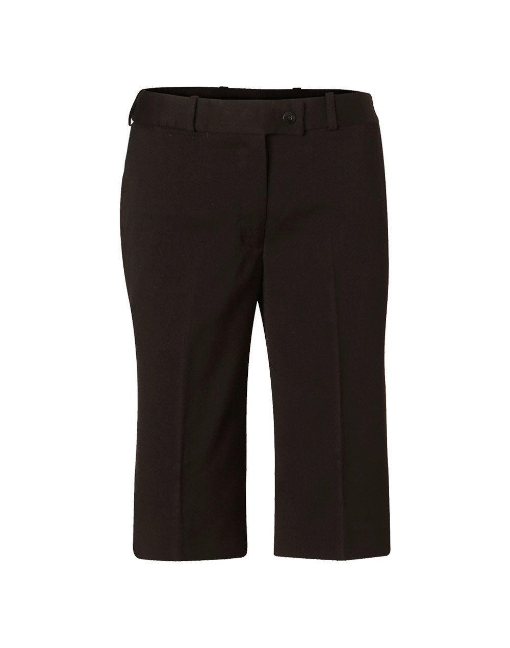 Stretch Knee Length Flexi Waist Shorts