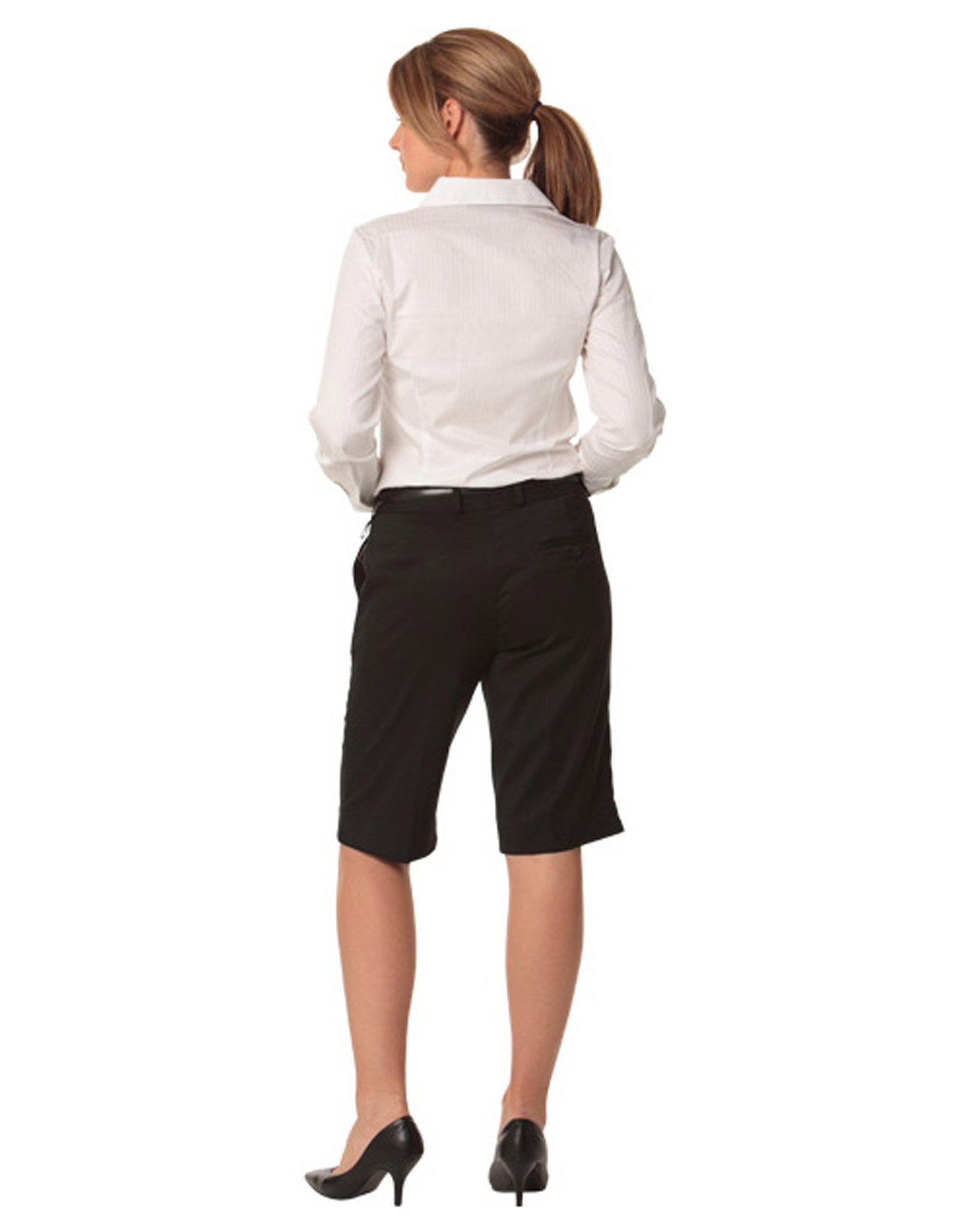 Stretch Knee Length Flexi Waist Shorts