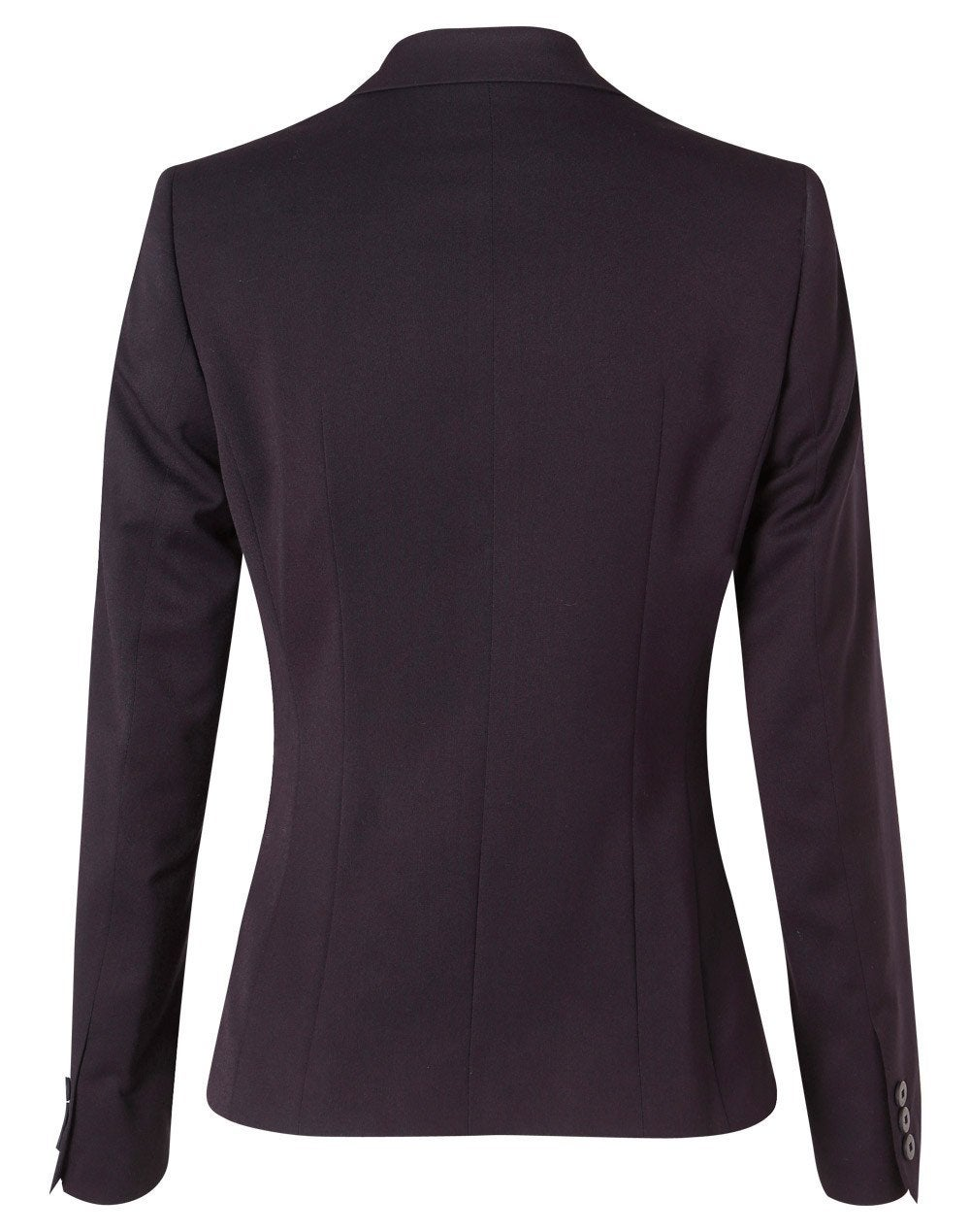 Poly/Viscose One Button Cropped Jacket