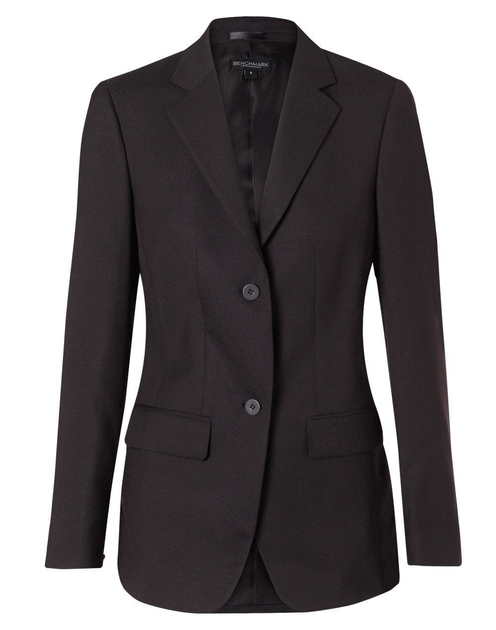 Poly/Viscose Two Buttons Mid Length Jacket