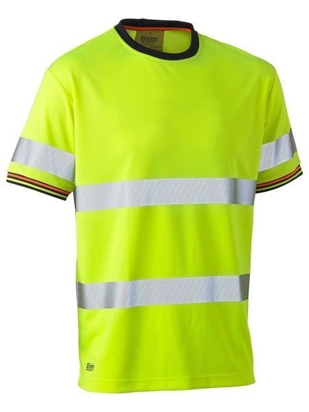 Taped Hi Vis Poly Mesh S/S T-Shirt