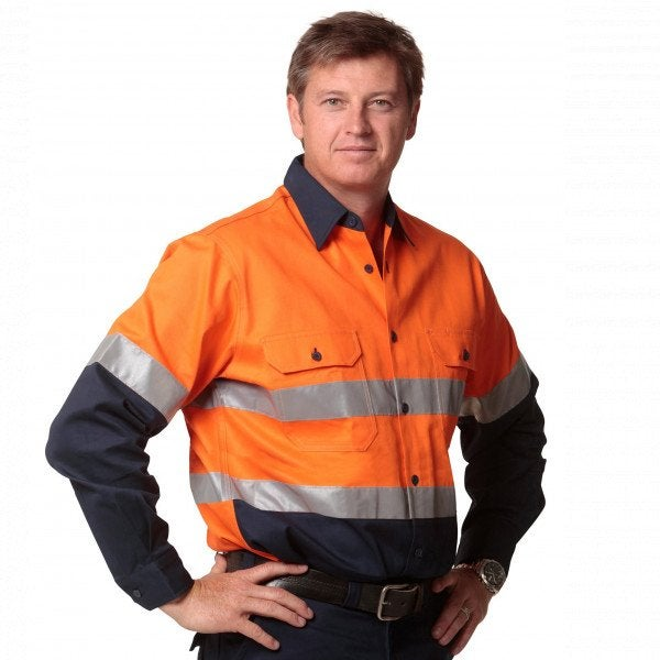 Custom Hi Vis Long Sleeve Safety Shirt
