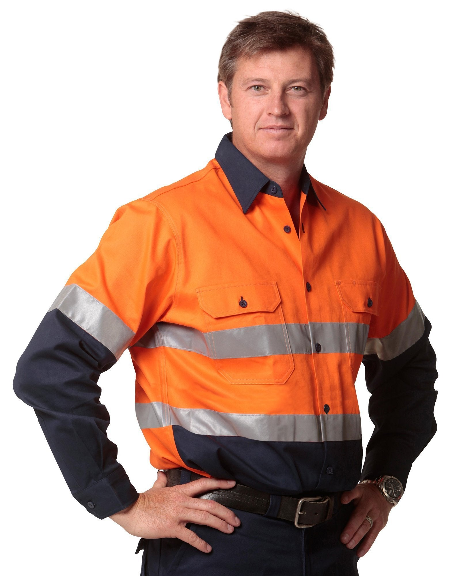 Hi Vis Long Sleeve Safety Shirt