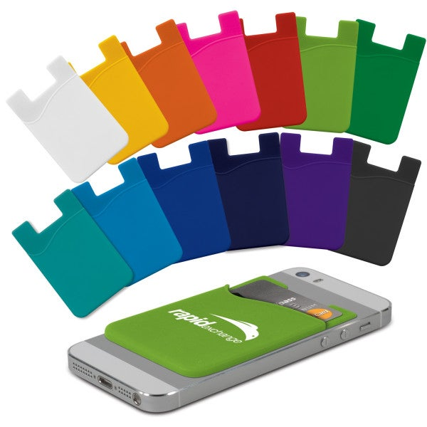 Custom Silicone Phone Wallet - Indent