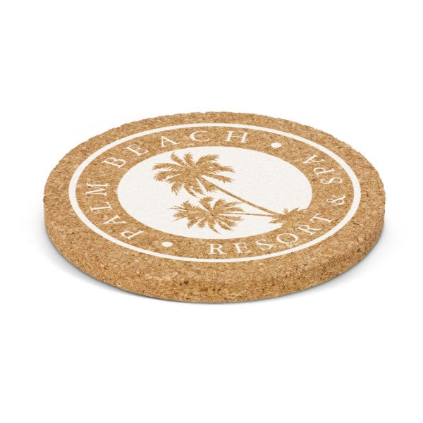 Custom Oakridge Cork Coaster - Round